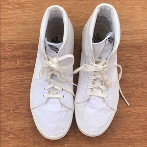 Vans Classic Solid White High Tops 12